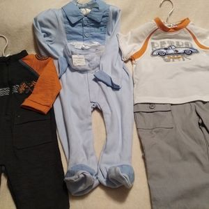 Baby boy bundle of 3 outfits